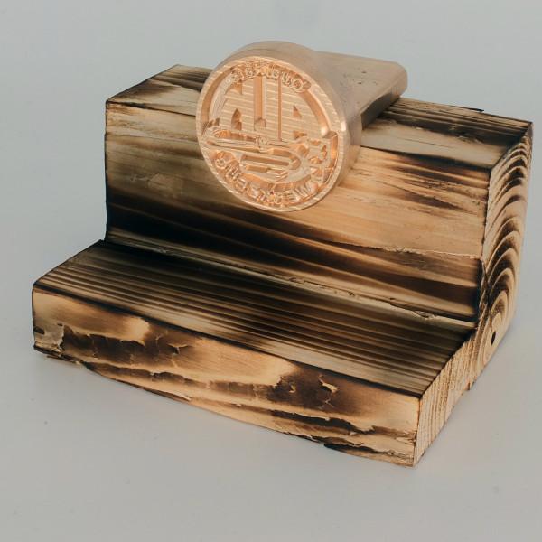 Brennplatte ALK4N 50mm rund inkl. Gravur