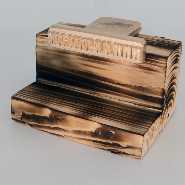 Brennplatte ALK4N 90mm x 20mm inkl. Gravur